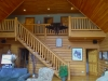 Great room staircase to guest rooms